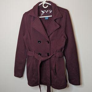 5/$25🌹Sebby Belted Fleece Peacoat